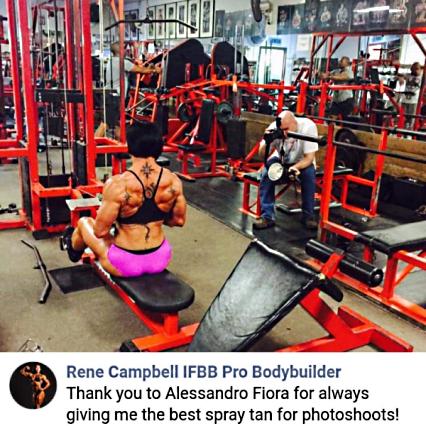 Rene Campbell IFBB Pro Bodybuilder