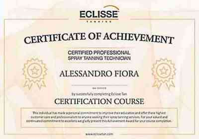Tanning Certificate for Alessandro Fiora